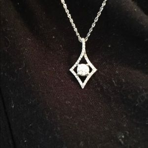 Jewelry - 1/2 clear diamond necklace paid 2800 asking 400